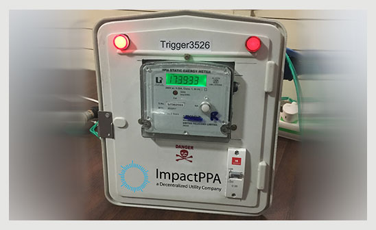 Power flows to a smart meter
